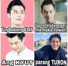 Smh I bet she's sweet, too. Memes Pinoy, Memes Tagalog, Pinoy Quotes, Tagalog Love Quotes, Hugot Lines Tagalog Funny, Tagalog Quotes Hugot Funny, Hugot Quotes, Bisaya Quotes, Patama Quotes