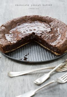love & olive oil - Chocolate Peanut Butter Chess Pie