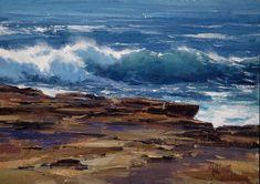 Matt Smith, Plein Air Artist, Landscape Painter of the American West, California… Seascape Paintings, Landscape Paintings, Les Cascades, Paintings I Love, Art Paintings, Coastal Art, Ocean Art, Pastel, Abstract Landscape