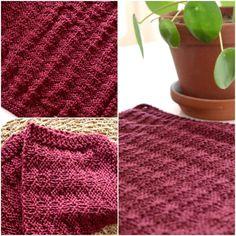Strikkeopskrift: Skøn vaflet karklud | Eponas dagbog Drops Design, Drops Cotton Light, Repeat Crafter Me, Knitted Fabric, Wood Crafts, Crochet Pattern, Blanket, Knitting, Etsy
