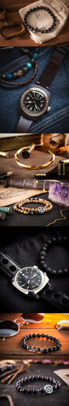Made to order beaded bracelets for men. Starts from just $22. Shipped worldwide from Europe.  For more click on the picture or here: https://www.strapsandbracelets.com