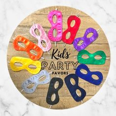 Party favors Single Mask Or Pack of 5/8/11 Kids Superhero | Etsy Halloween And More, Halloween Masks, Halloween Party, Capes For Kids, Mask For Kids, Masks Kids, Superhero Kids, Superhero Birthday Party, Kid Party Favors