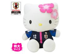 Hello Kitty x Nadeshiko Japan Women's Football Soccer Jumbo Plush Doll JFA