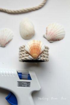 DIY Nautical Seashell Napkin Ring
