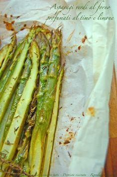 asparagi verdi al forno profumati al timo e limone