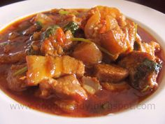 Oonu ready: Pork curry- Manipuri style Veg Recipes, Curry Recipes, Indian Food Recipes, Asian Recipes, Ethnic Recipes, Filipino Recipes, Bangladeshi Food, Bengali Food, Pork Curry Recipe