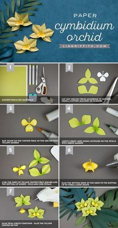 #TropicalFlowers #PaperFlowers http://www.LiaGriffith.com