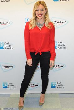 Hilary Duff looking fierce in red. Get more Hilary Duff style inspiration in Younger on TV Land. Watch the latest episode at http://www.tvland.com/shows/younger.