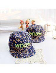 GMB Unisex Cotton Flat Cap Wolfm Embroidery Baseball Hat Hip-hop Hat  Snapback Unique Style Brim Hat Caps 781bc276573a