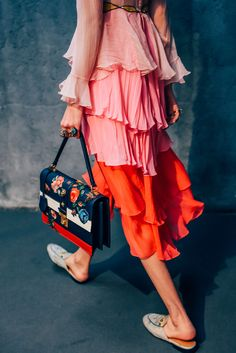 Gucci S/S16, color, softness, mules