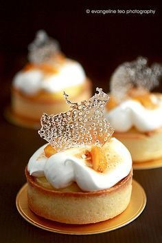 # fancy Desserts Pierre Herme's Meyer Lemon Tart - (Free Recipe below) French Desserts, Just Desserts, Delicious Desserts, Dessert Recipes, Yummy Food, Custard Desserts, Gourmet Desserts, Pastry Recipes, French Food