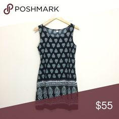 """Comfortable, Light Printed Sheath Dress This soft, lightweight dress is easy to wear and is a great transition piece, pair it with sandals or leggings and booties when it gets cool. Hidden side zipper.  Small - Approximate Measurements Bust 17"""" Waist 16"""" Length 33""""  ❌ Sorry, no trades. Dresses Mini"""