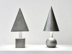 Alissa Coe, CAST CONCRETE AND CAST ALUMINUM TABLE LAMPS