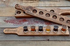 Beer Tasting Tray Beer Flight with Choice of Glass Size Beer Lover Gift
