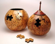 """*Gourd Art - """"Jigsaw Puzzle"""" Bonnie Gibson"""