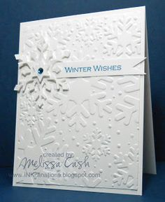 Beautiful snowflake card created by @Melissa Cash using tombow adhesives