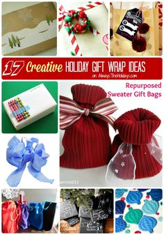 17 creative holiday gift wraping ideas - alwaystheholidays.com/17-creative-holiday-gift-wrapping-ideas