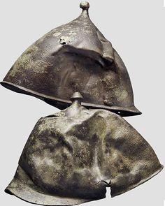 Image result for damaged medieval helmet