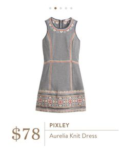 Picley aurelia dress. From stitch fix. Love paired with red statement necklace and yellow wedge sandals.