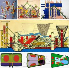Mixed media collage by Peter Cook for Archigram