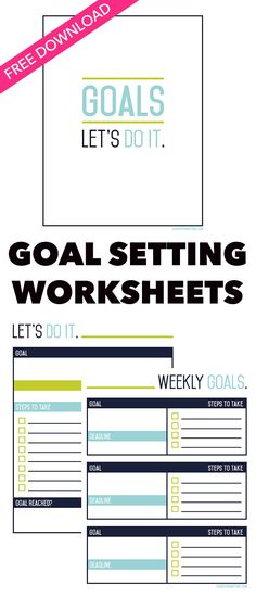 Start your new year off right, by downloading these FREE goal setting worksheets from LivingForNaptime.com