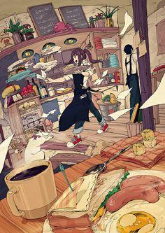 hasyanomaki #AnimeIllustration