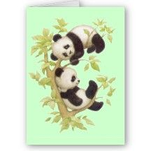 Cute Pandas Greeting Card