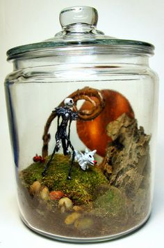 Tim Burton Nightmare Before Christmas Jack Skellington glass terrarium!