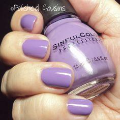 SinfulColors Verbena — gorgeous lilac color!