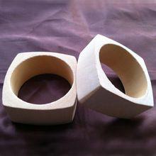 Pulseras de madera en blanco DIY sin terminar cuadrados pulseras de madera para materiales artesanales 5 unids/lote(China (Mainland))