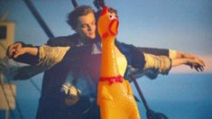 Chicken Sings Titanic Song - My heart will go on (Chicken Cover) Chicken Song, Chicken Humor, Funny Chicken, Rubber Chicken, Titanic Movie, Dog Toys, More Fun, Singing, Marvel