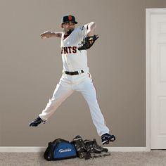 Sergio Romo REAL.BIG. Fathead Wall Graphic | San Francisco Giants Wall Decal | Sports Decor | Baseball Bedroom/Man Cave/Nursery
