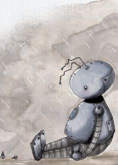Lonely Wallpapers With Quotes For Desktop Sad Robot