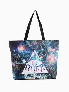 Triangle Eye Galaxy Print Tote Bag - Choies.com