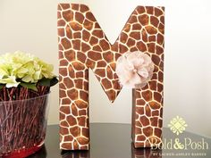 This beautiful giraffe print is the perfect decor accent to any safari themed nursery or room. The letter features a lovely giraffe print on cotton fabric with silk chocolate ribbon on the sides. Giraffe Room, Giraffe Decor, Baby Shower Giraffe, Giraffe Print, Baby Giraffes, Giraffe Birthday Parties, Baby Birthday, Third Birthday, Safari Theme Nursery