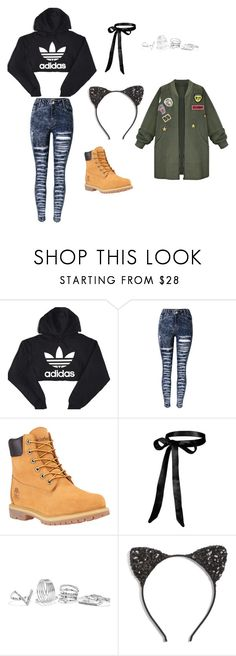 """""""Untitled #204"""" by ana-zelic ❤ liked on Polyvore featuring adidas, Timberland, GUESS, Cara and WithChic"""