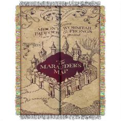 One of my favorite discoveries at HarryPotterShop.com: Harry Potter Marauder's Map Woven Tapestry Throw Blanket