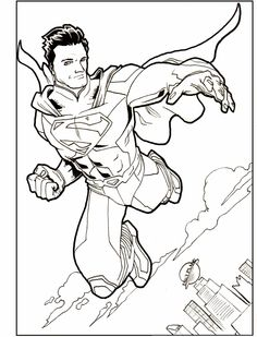 Supermans Most Powerful People Coloring Picture For Kids