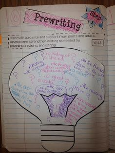 List your ideas!  We use this for narrative, opinion, and informational writing!