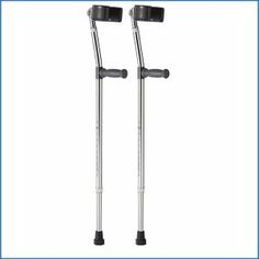 3. Medline MDS805161 Aluminum Forearm Crutches Crutches, Spoon, Top, Crutch, Shirts, Spoons