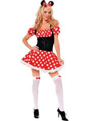 Adult Mickey's Mistress Mouse Costume, $49.99