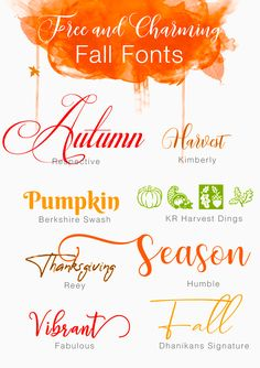 Free And Charming Fall Fonts - Fonts - Ideas of Fonts - Free And Charming Fall Fonts Calligraphy Fonts, Typography Fonts, Sign Fonts, Fonts Gratis, Fall Fonts, Winter Fonts, Free Font Design, 3d Laser Printer, Fun Craft