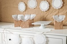 Parties By Kaci: Decorating With Doilies: Part 1