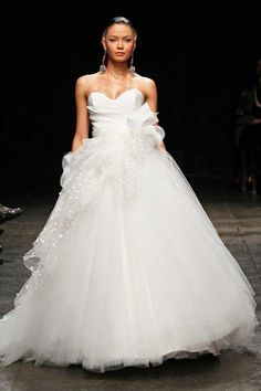 Top 7 Wedding Dresses of the Week: Edgy, Asymmetrical Skirt Edition!: Save the Date: glamour.com