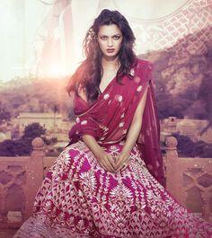Anita Dongre - Indian raw silk & net lengha