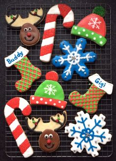 Decorated Christmas Cookies from Peanut Butter and Julie