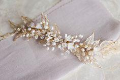 Gold pearl bridal headpiece_Percy Handmade