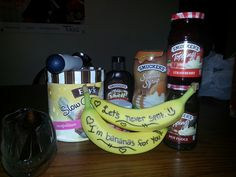Surprised my boyfriend with date night banana splits :) ♥