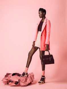 "Grazia South Africa, ""Pastel Pink"" fashion editorial, fashion lookbook.                                                                                                                                                                                 More"
