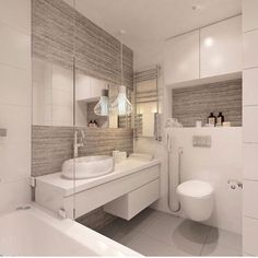 Grey and white bathroom Bathroom Layout, Bathroom Interior Design, Decor Interior Design, Contemporary Bathrooms, Modern Bathroom, Small Bathroom, Bathroom Grey, Small Toilet, Vanity Design